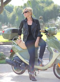 Moto Mojo - my perfect leather moto jacket isn't leather after all, but rather this waxed cotton version from Eileen Fisher.