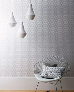 Zelor | Papel pintado geométrico | Patrones de papel pintado | Papeles de los 70