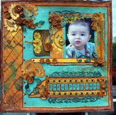 Sweet Baby Owen - Scrapbook.com - Beautiful. #scrapbooking #layouts #bobunnypress #baby