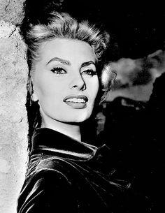 """""""Sophia Loren in the 1950s. """""""