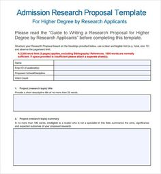 A Good Proposal  Research    Proposals