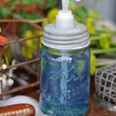 Using mason jars for your wedding? Go all out with this DIY mason jar soap dispenser.