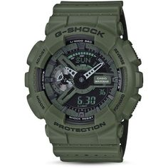 G-Shock Xl Military Ana-Digi Watch, 51.2mm (190 CAD) ❤ liked on Polyvore featuring men's fashion, men's jewelry, men's watches, green, mens military watches, mens analog digital watches and g shock mens watches #menswatchesmilitary
