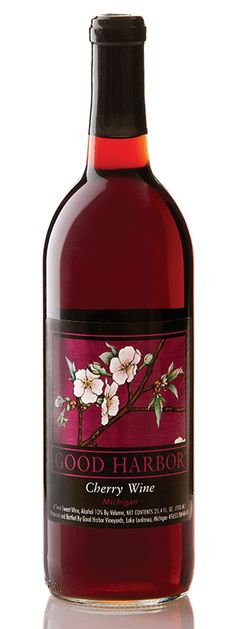 Michigan Cherry Wine from Good Harbor Vineyards, Leland - This is the best cherry wine I've found in Michigan.