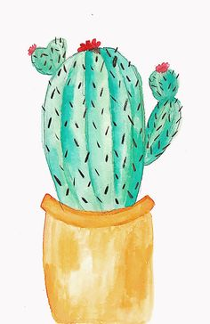 #cactus #watercolor #print #craft #watercolorcactus Watercolor Cactus, Watercolor Print, Sonora Desert, Learn To Draw, Paintings, Drawings, Crafts, Learn Drawing, Manualidades