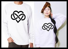 Heart Infinity and Beyond Symbol Matching  Couple by MydaGreat, $35.99