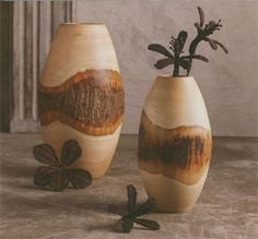 Artisan bark vase. Lathe Projects, Wood Turning Projects, Wood Projects, Woodworking Projects, Wood Vase, Wood Bowls, Transfer Images To Wood, Wood Router, Cnc Router
