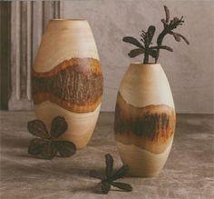 Artisan bark vase.