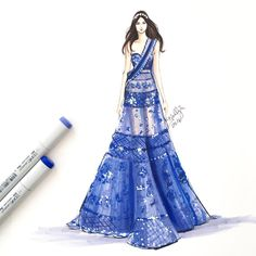 All work on this page ©Holly Nichols. Dress Design Sketches, Fashion Design Sketchbook, Fashion Design Drawings, Fashion Sketches, Dress Illustration, Fashion Illustration Dresses, Fashion Illustrations, Dress Drawing, Fashion Figures