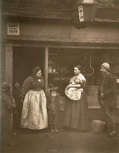 Sufferers from the floods    From 'Street Life in London', 1877, by John Thomson