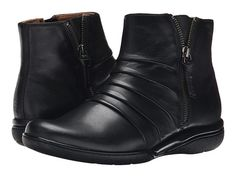 Clarks Kearns Blush Black Leather - Zappos.com Free Shipping BOTH Ways  Leather Boots 80f1aaf47e3