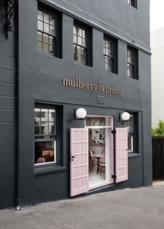 Stunning restaurant exterior, would also make a great shop exterior! / Mulberry & Prince Restaurant in Cape Town by Atelier Interiors | Yellowtrace