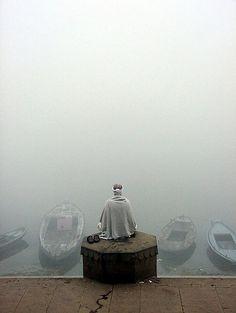 Meditation in Varanasi, India (by Arul Baskaran)