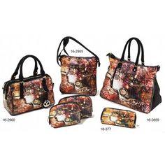 Τσάντες και πορτοφόλι με στάμπα Verde S-6842 Fashion, Moda, Fashion Styles, Fashion Illustrations