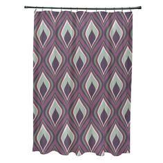 Bungalow Rose Menara Geometric Shower Curtain Color: Purple