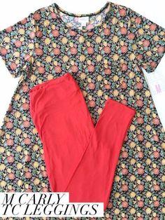 LuLaRoe Outfit M Carly Dress TC Leggings   Lindsay Gonzalez's Boutique   Shoppe
