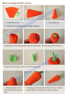 DIY Tutorial: DIY Arts Crafts / DIY make felt carrot - BeadCord