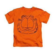 Garfield Smirking Face Newspaper Comic Little Boys T-Shirt Tee @ niftywarehouse.com #NiftyWarehouse #Geek #Gifts #Collectibles #Entertainment #Merch