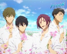 Take your marks damn it both of my ships are together makoharu and rin. shnit I forgot the name of the other dude don't kill me Hot Anime Boy, All Anime, Anime Guys, Manga Anime, Anime Art, Musaigen No Phantom World, Swimming Anime, Splash Free, Free Eternal Summer