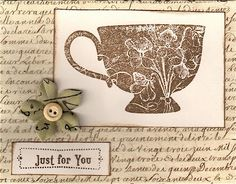 Stampin up the perfect personal invitation to tea!  :)
