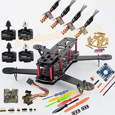 gouduoduo2018 Upgraded QAV250 ZMR250 V2 DIY Quadcopter Carbon Fiber Frame & PDB Board 5V 12V BEC & Naze 32 10DOF & Emax MT 2204 Motor & BLHeli 12A ESC - http://notnewcenter.com/drones/diy-drones/gouduoduo2018-upgraded-qav250/