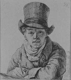 Zelfportret (ca. 1814 - ca. 1815) Pieter Christoffel Wonder