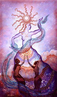 Sun Goddess: Saule Art - by Willow Arlenea