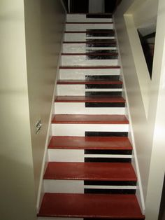Piano Stairs modern basement