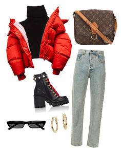 """""""Untitled #219"""" by eviebull ❤ liked on Polyvore featuring Marc Jacobs, Gucci, Louis Vuitton, Blue Nile and Balenciaga"""