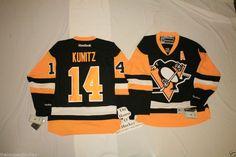 KUNITZ NHL NEW 3RD PITTSBURGH PENGUINS REEBOK PREMIER ALTERNATE HOCKEY JERSEY