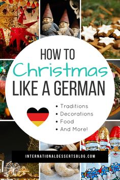What's Christmas like in Germany? I share all of the best German Weihnachten decorations (German Christmas smokers, wooden Christmas pyramids), traditions, decorating tips and decorations (Advent wreath, Advent calendar), ornaments, Christmas markets, baking recipes, cookies, authentic food, desserts, and more! German Christmas Food, German Christmas Traditions, Christmas In Germany, German Christmas Markets, What Is Christmas, Christmas Sweets, Holiday Traditions, Winter Christmas, Christmas Holidays
