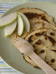 Petites crêpes aux pommes et au lait d'avoine - Recette