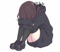 28 Trendy drawing quotes doodles bible journal to drawing poses Anime Chibi, Manga Anime, Sad Anime Girl, Kawaii Anime Girl, Anime Art Girl, Sad Girl, Anime Art Fantasy, Anime Girl Triste, Illustrator Design