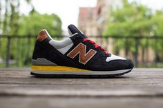 New Balance 996 'Made in USA' (Navy, Brown & Yellow)