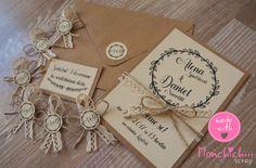 Svatební oznámení včetně zdobené obálky- 12 Origami, Place Cards, Gift Wrapping, Place Card Holders, Boho, Gifts, Paper Wrapping, Wrapping Gifts, Gift Packaging