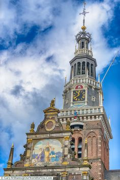 The close-up of the tower, Alkmaar, Holland, Netherlands Big Clocks, Holland Netherlands, Europe, Places Of Interest, City Break, The Places Youll Go, Touring, Big Ben, Exploring