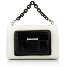 Balenciaga Mini Satchel Bag Bicolor White/Black in white, Handle Bags ($2,430) ❤ liked on Polyvore featuring bags, handbags, white, black and white purse, faux leather purses, leather satchel handbags, leather man bags and satchel handbags