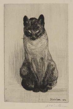 Siamese Cat | etching, 1914  | Theophile-Alexandre Steinlen