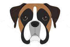 Boxer dog Vector Illustration. $2.00