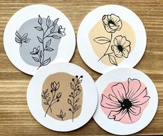 Acrylic Painting For Beginners, Acrylic Painting Canvas, Beginner Pottery, Coaster Art, Flower Pot Design, Hanging Paintings, Mini Canvas Art, Pottery Techniques, Hand Art