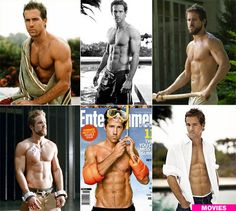 Ryan Reynolds- what a hot guy looks like.