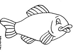 rainbow fish outline full page free printable fish coloring pages for kids