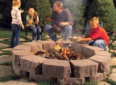 love this idea for an easy and inexpensive fire pit!