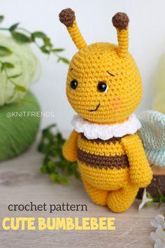 Amigurumi crochet pattern for beginners Crochet Patterns For Beginners, Crochet Patterns Amigurumi, Crochet Ideas, Crochet Stitches, Crochet Projects, Knitting Ideas, Knitting Patterns, Stuffed Toys Patterns, Colorful Decor