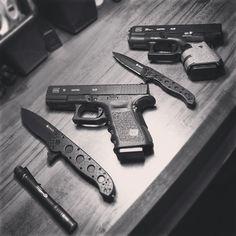 Glock + CRKT by kamikazeknots