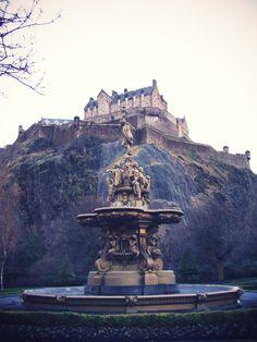 Edinburgh Castle.  Edinburgh, Scotland.