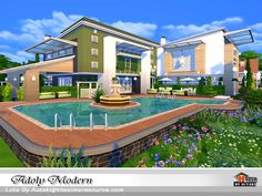 Adoly Modern house by autaki at TSR via Sims 4 Updates  Check more at http://sims4updates.net/lots/adoly-modern-house-by-autaki-at-tsr/