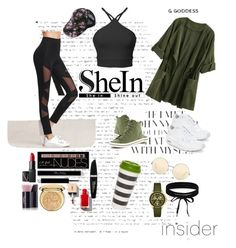 """""""SheIn- Leggins"""" by guelcan-1 on Polyvore featuring NIKE, Keds, NARS Cosmetics, Charlotte Russe, Max Factor, Christian Dior, Yves Saint Laurent, Kate Spade, Victoria Beckham and Michele"""