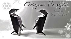 How to make an Origami Penguin  Tutorial By OrigamiPaperCraft
