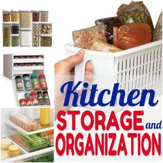 Say goodbye to kitchen clutter with these food storage tools and organization tips!